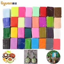 5 Tools+ Liyuan Polymer Clay Oven Baked Colorful Modelling Moulding 32 Blocks Creative DIY Malleable Fimo Gift for Child