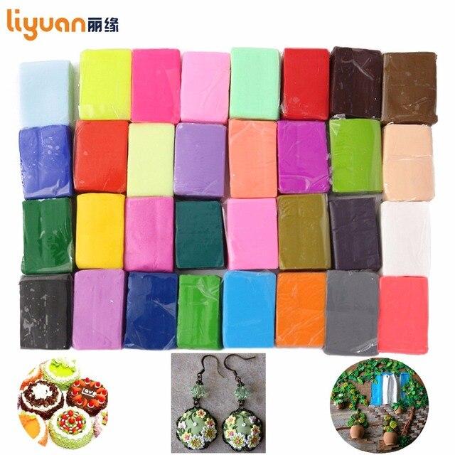 Liyuan Полимерная глина печь Запеченные красочные Моделирование литье 32 блоки Творческий DIY ковкий Fimo Подарок для ребенка