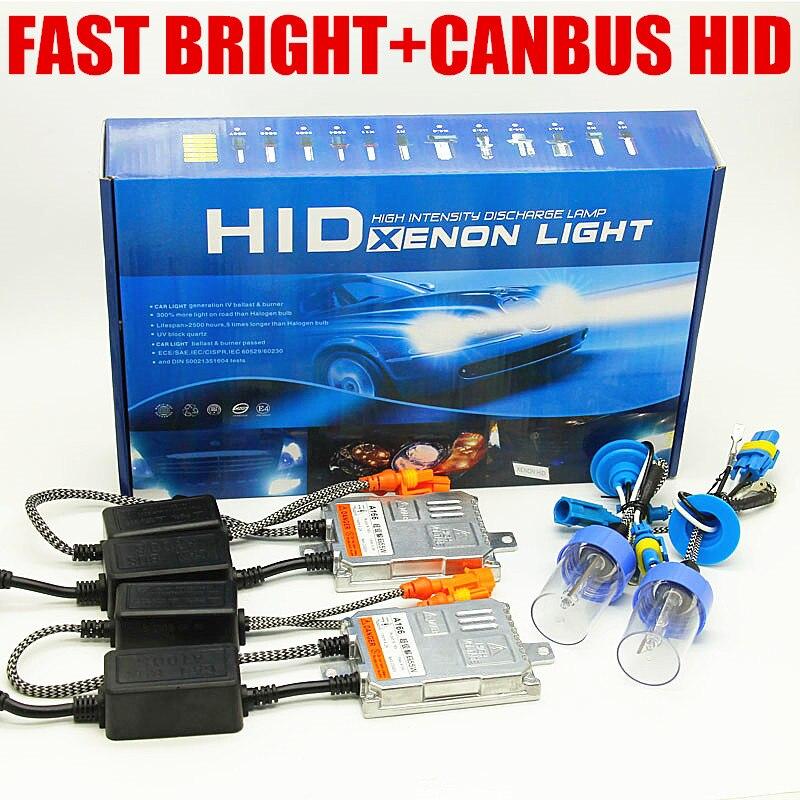 Sans erreur rapide lumineux 12 v 55 w canbus hid h7 h11 9005 9006 xénon h3 H1 phare