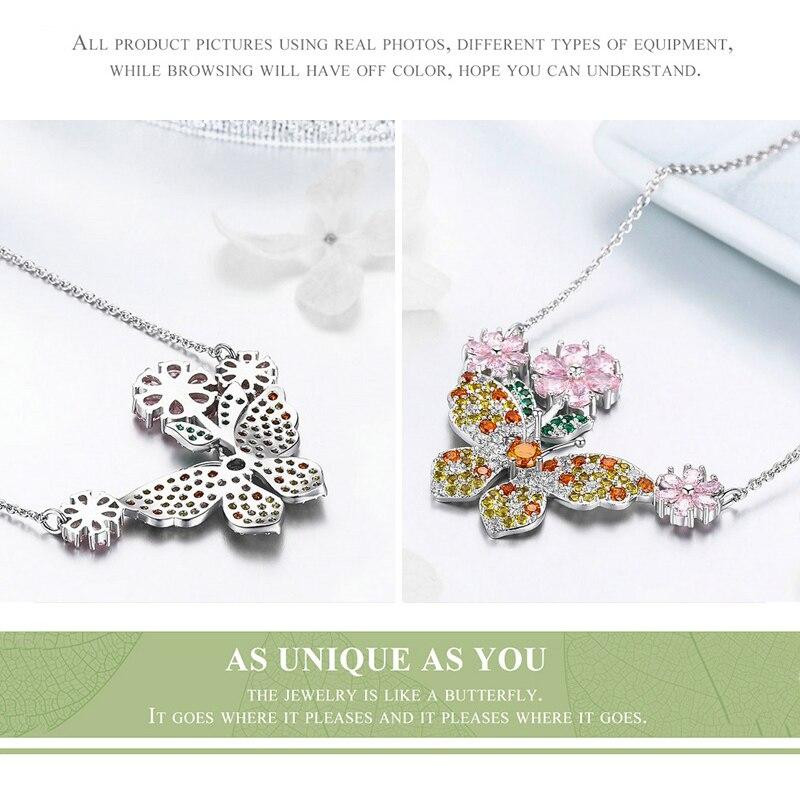 DISINIYA Crystal Zircon Butterfly Love Flower Necklaces Rings Earrings Jewelry Sets for Women Silver wedding Jewelry WE176 in Jewelry Sets from Jewelry Accessories