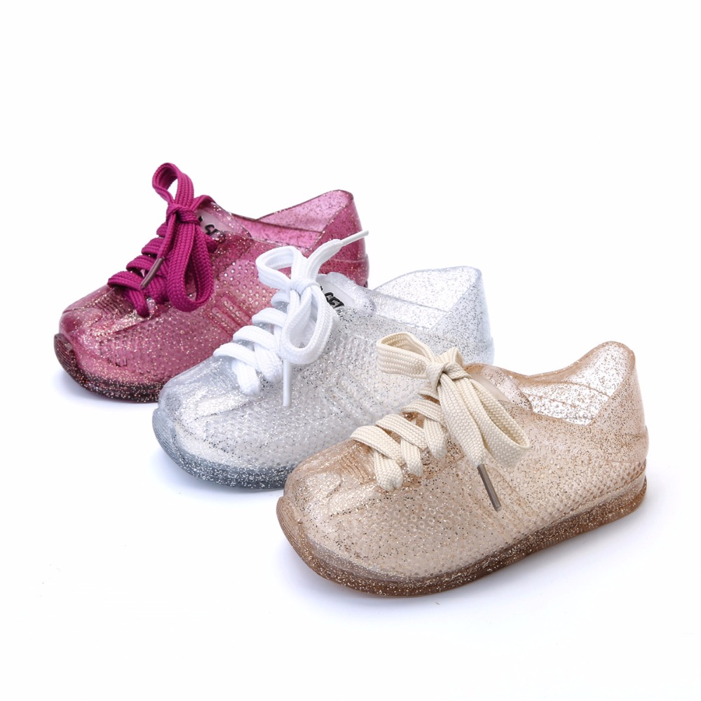 Mini Melissa Sports Shoes 2019 New Spring Flat Slip-on Kids Sandals Sneakers Breathable Girls Sandals Shoes Mini Melissa Shoes