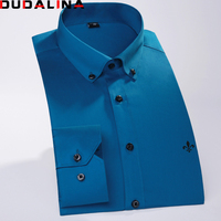 Dudalina High Quality Twill Long Sleeve Men Cotton Shirts White Social Casual Dress Shirts China Brand