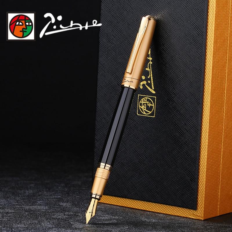 Alta calidad Picasso pluma de Iraurita tinta full metal lujo signo plumas dolma kalem Caneta tinteiro papelería 1041