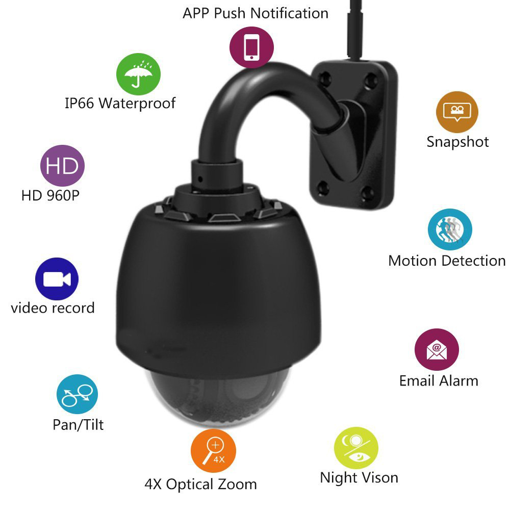 APEXIS Wireless PTZ Dome IP Camera Outdoor 960P HD Zoom CCTV Security Video Network Surveillance IP Camera Wifi Support phone AP security cctv 1080p audio wireless wifi ip camera 20x zoom auto tracking ptz ip camera ir wireless outdoor cpe ap