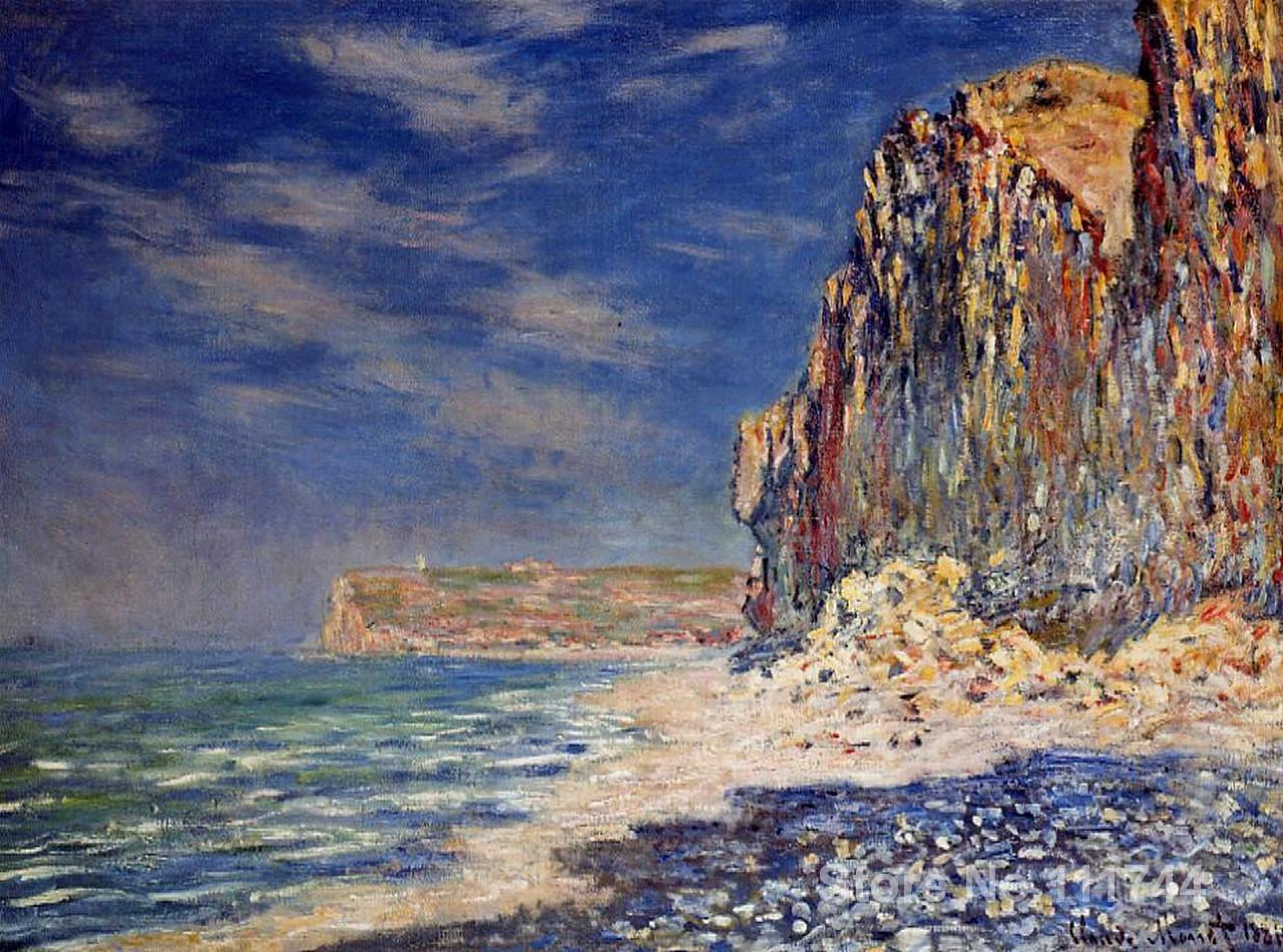 Online art gallery cliff near fecamp claude monet for Online art gallery paintings