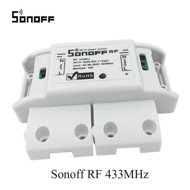 Sonoff RF Smart Remote Control Wifi light switch,RF 433MHz Remote Control  Timing Set Smart Home Work With Alexa 220V/10A/2200w