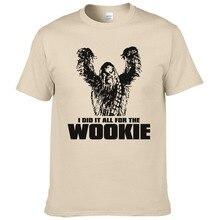 Star Wars Chewbacca Head Chewy Wookie Футболка Мужская хлопковая футболка с коротким рукавом топы мужская одежда Wookiee европейский размер#190