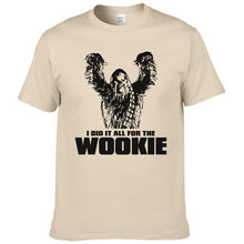 788dbf91a 2017 Star Wars Chewbacca Head Chewy Wookie T Shirt Men Cotton Tees Short  Sleeves Tops Male