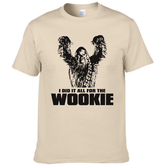 e745ebbb8f 2017 Star Wars Chewbacca Head Chewy Wookie T Shirt Men Cotton Tees Short  Sleeves Tops Male Clothes Wookiee European Size #190