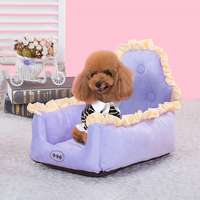 Dog Bed Pet House Cute Dream Princess Dog Beds For Small Dogs Lace Puppy Medium Sofa Bed Kennel Mat Cage Basket Bed Bichon Nest
