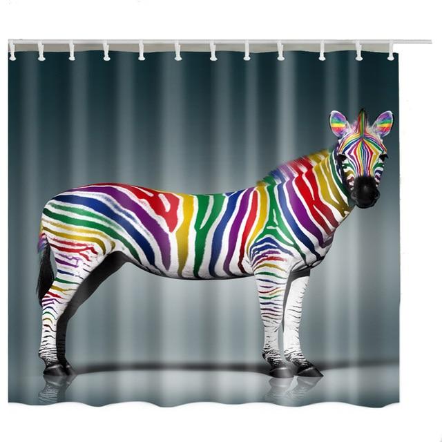 Luxurysmart Zebra Shower Curtains Custom Design Creative Curtain Bathroom Waterproof Polyester Fabric