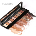 Focallure 2017 Hot Sale Fashion 10 Colors Long-lasting Natural Glitter Shimmer 3D Charming Eyeshadow Eye Beauty Makeup Palette