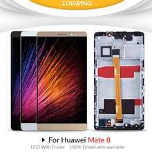 High quality AAA LCD For HUAWEI Mate 8 Display Touch Screen with Frame Digitizer Assembly 6.0