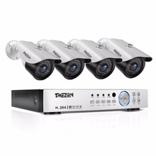 Tmezon HD AHD 4CH 1080P DVR NVR 4pcs 2.0MP Camera Home Security Surveillance CCTV System Outdoor Night Vision Cam 1TB 2TB Set