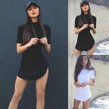 Women Summer Slim Dress Ladies Pullover Sexy Solid Color Dress Bodycon Sheath Solid Crew Neck Short Sleeve Mini Party Dress