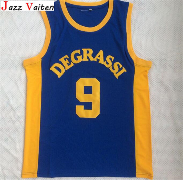 84b7a9c36228 Jazz Vaiten Cheap  9 Drake Jimmy Brooks Degrassi Community School Panthers  Basketball Jersey No Name Blue Men Jerseys Sale