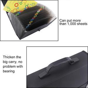 Image 4 - MyLifeUNIT 26 جيوب مجلد متسع لحفظ الملفات منظم حقيبة مقاوم للماء صندوق تخزين الأعمال مع مقبض مكتب التموين