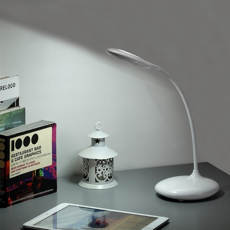 ФОТО USB Charged Touch-Sensitive Reading Desk Lamp Eye-Care Dimmer LED Table Light