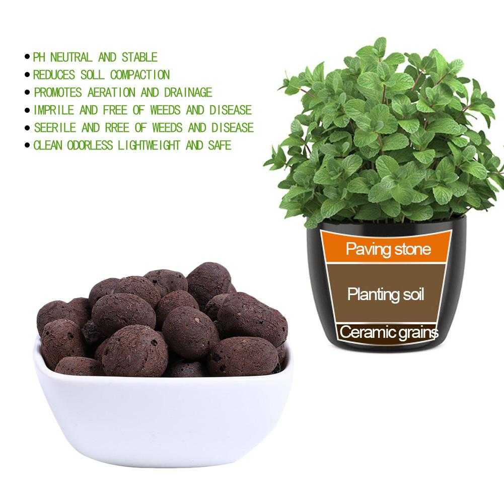 100g / Pack Ceramic Hydroponic Soil Negative Ion Ceramic Carbon Ball Nutrient Organic Expanded Clay Pebbles Plant Aquaculture image
