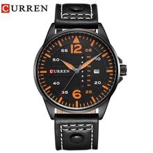 CURREN Luxury Brand Relogio Masculino Date Leather Casual Watch Men Sports Watches  Quartz Military Wrist Watch Male Clock 8224