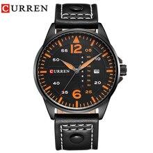 แบรนด์หรูCURREN Relogio Masculinoวันที่หนังCasualนาฬิกาผู้ชายกีฬานาฬิกาข้อมือนาฬิกาควอตซ์ชายนาฬิกา 8224