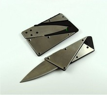 Карманный складной нож в форме кредитной карты. Стальная металлическая ручка. Уличный инструмент безопасности в бумажнике. 1шт.