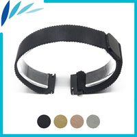 Stainless Steel Watch Band 18mm for Huawei Watch / Fit Honor S1 Magnetic Clasp Strap Quick Release Loop Belt Bracelet Black