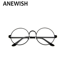 ANEWISH 2017  Vintage Round Glasses Men Harry Potter Glasses Frame Prescription Eyewear Oculos De Grau Redondos Femininos *41