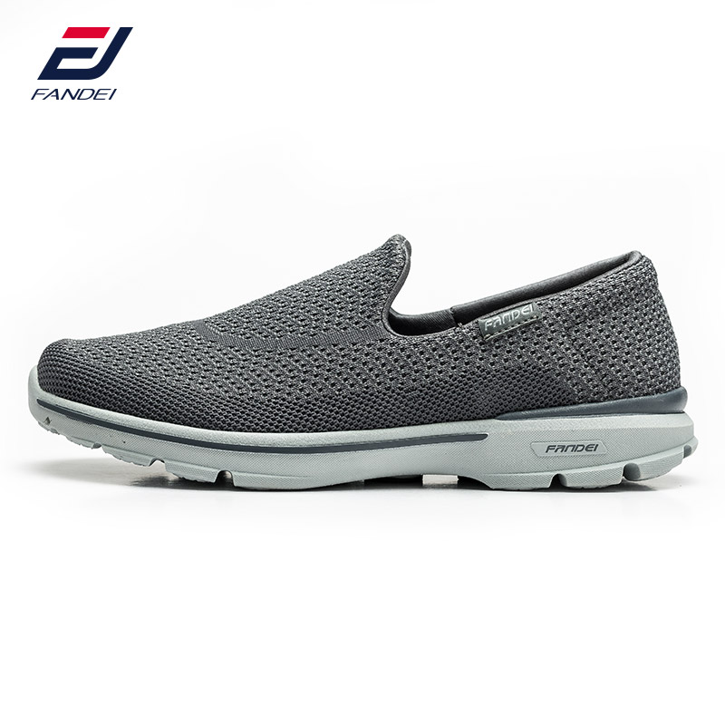 FANDEI 2017 breathable mesh running shoes for men comfortable light weight slip on sneakers men comfortable