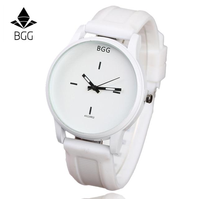Original Soft Silicone Strap Jelly Quartz Watch Big Dial Wrist watches for Women