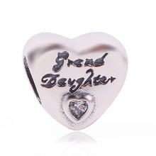 7458853e3 Couqcy 2019 New 925 Sterling Silver Daughter's Love Charm Beads Fit  Original Pandora Bracelet Bangle Authentic
