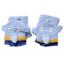 da9d12fac39c Bébé gants enfants gants d hiver pour Enfant Bébé Mignon Épaissir Patchwork Chaude  Filles Garçons De L hiver Chaud Flip Gants