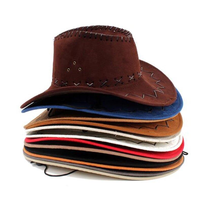 1 Pcs Fashion Chapeu Straw Cowboy Autumn Summer Spring Sun Hat Cowboy Hat  Men And Women 19b1c62cd45