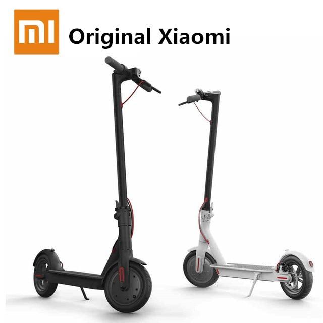 Prix pour D'origine Xiaomi M365 Électrique Scooter Mini Scooter Hoverboard Planche À Roulettes pliable vélo électrique E-bike vélo Xiaomi Marque