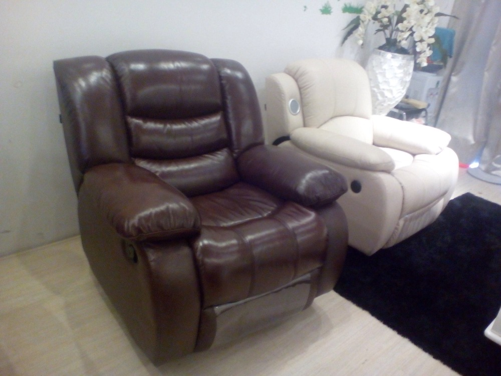 Cow Genuine Leather Recliner Sofa