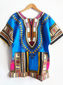 (Быстрая доставка) 2015 Новая конструкция способа африканский традиционный печати 100% хлопок Dashiki Футболка для унисекс (СДЕЛАНО В ТАИЛАНД)