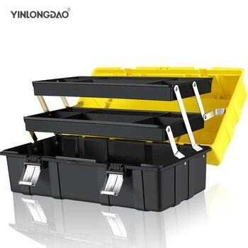 Трехслойный складной Toolbox Home Hardware Multi-function Портативный ремонт электроприборов инструменты для автомобиля коробка для хранения