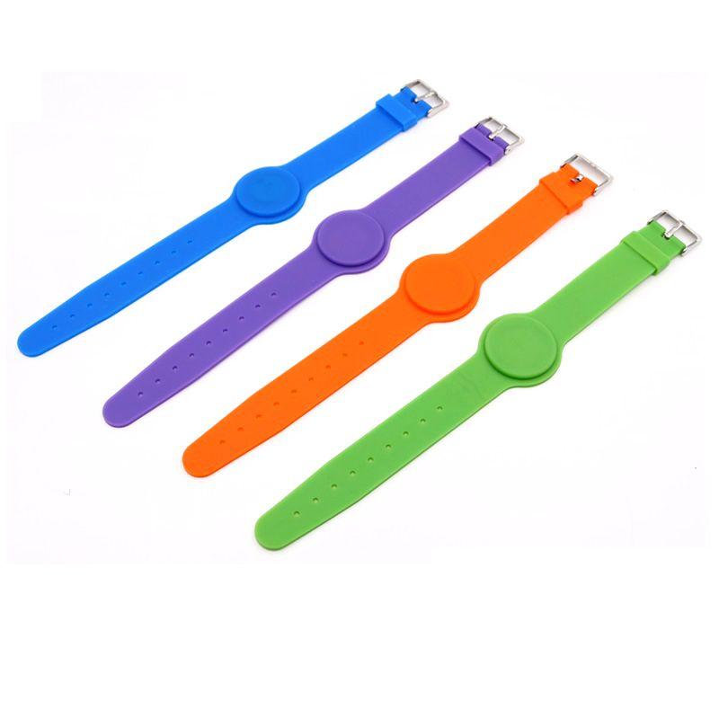 1PCS 125Khz T5577 Writable Silica Gel Wristband RFID Bracelet Adjustable Length Access Control Accessories