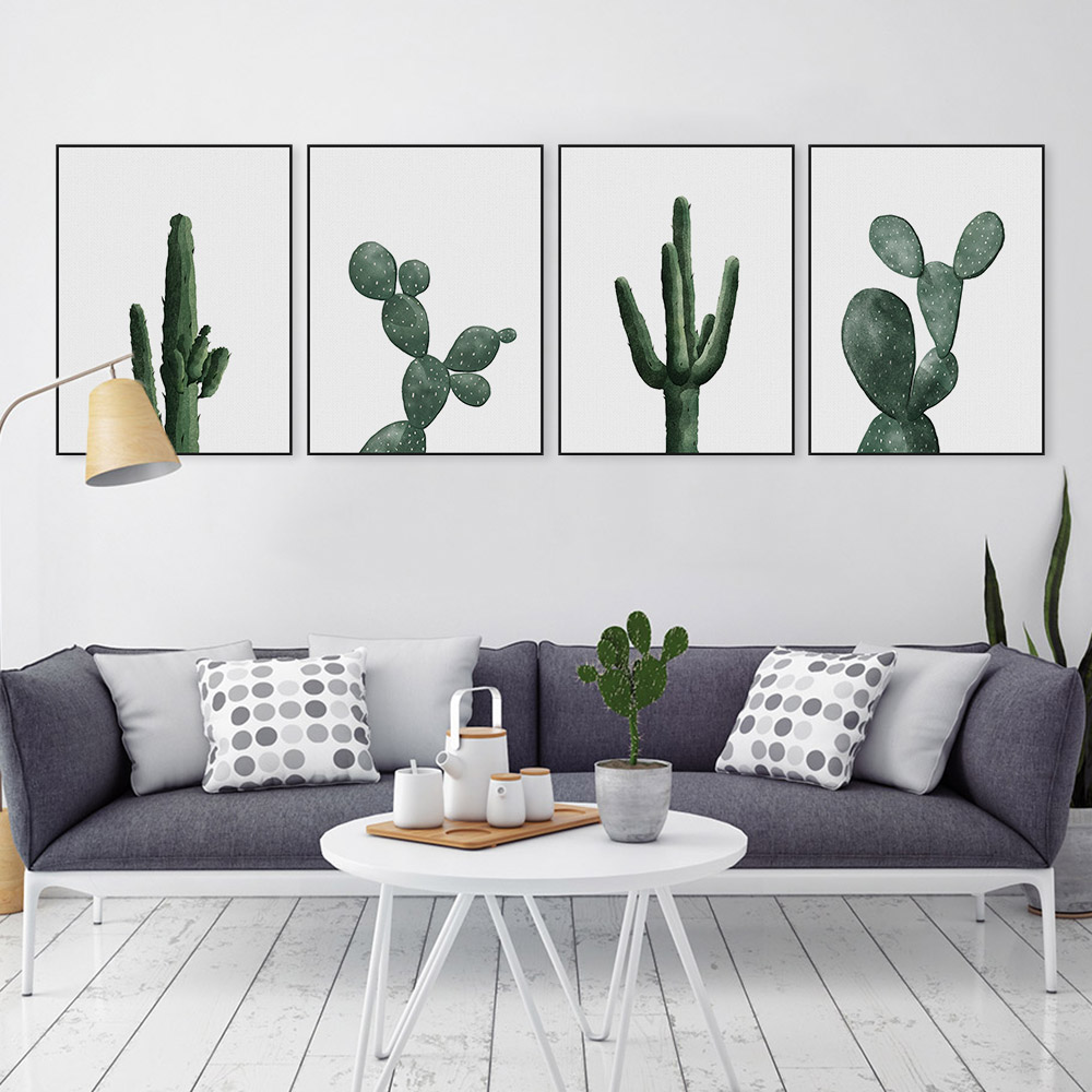 Green Cactus Rhipsalis Canvas Painting Wall Picture Painting For Living Room No Frame Nordic Large Art Print Poster Home Decor