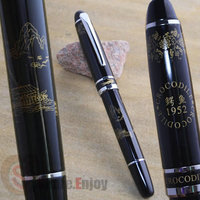 CROCODILE 1952 BLACK AND SILVER ROLLER BALL PEN SAILING BOUT AND LANDSCAPE