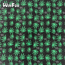 Winfox Hip Hop 100% Cotton Reggae Jamaica Black Green Weed Leaf Bandana Square Headband For Women Men Boys Girls black uhuru black uhuru reggae greats