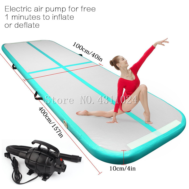 Free Shipping Free Pump 4x1x0.1m Gymnastics Inflatable Air Track Tumbling Mat Gym AirTrack For SaleFree Shipping Free Pump 4x1x0.1m Gymnastics Inflatable Air Track Tumbling Mat Gym AirTrack For Sale
