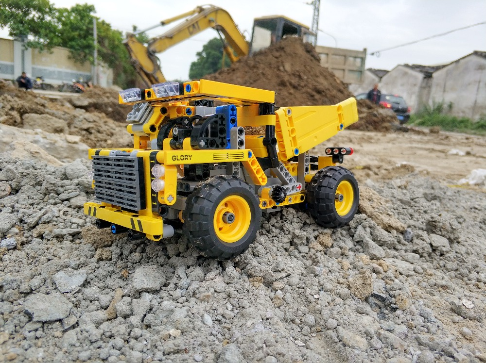 389-537PCS DIY Dumper Truck Building Blocks Car Technic Mechanical Power Bulldozer Construction Toys For Boys Children 42