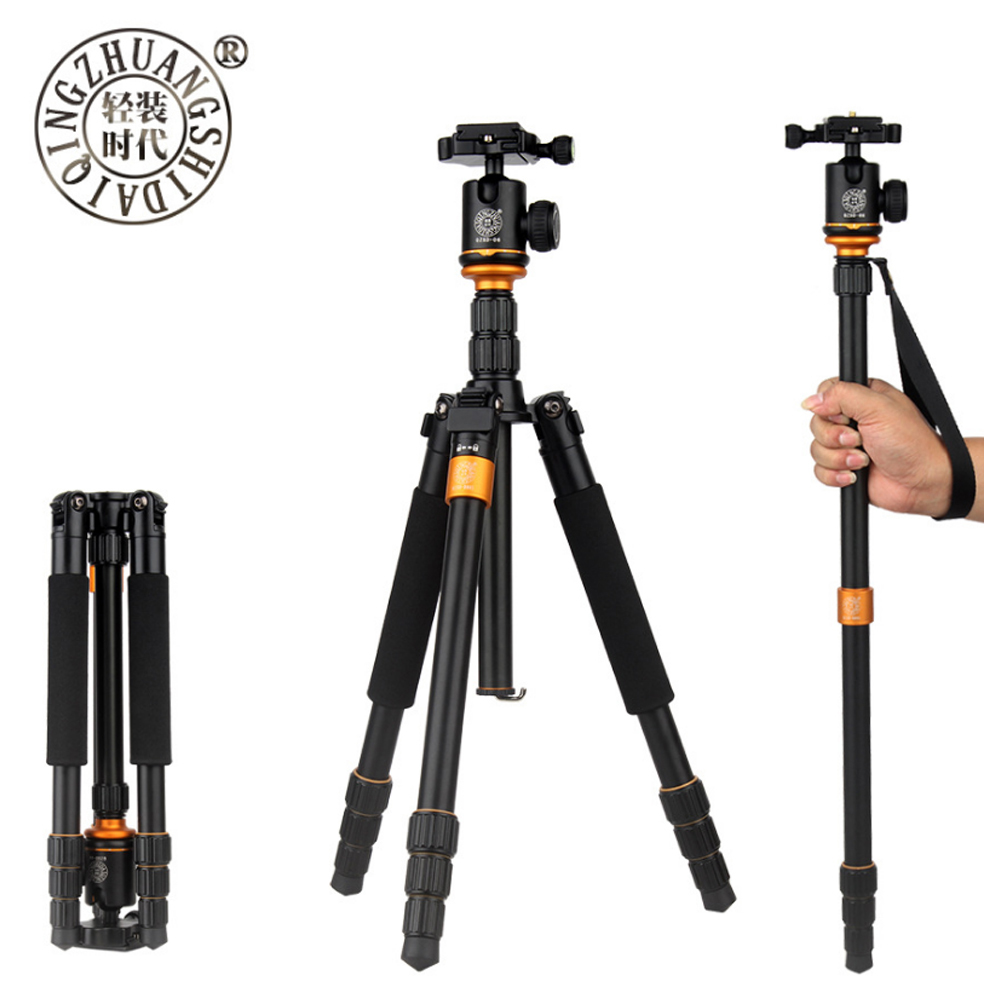 QZSD Q999S Aluminium Alloy Camera Tripod  Video Monopod Professional Extendable Tripod with Quick Release Plate and Ball Head-in Tripods from Consumer Electronics    1
