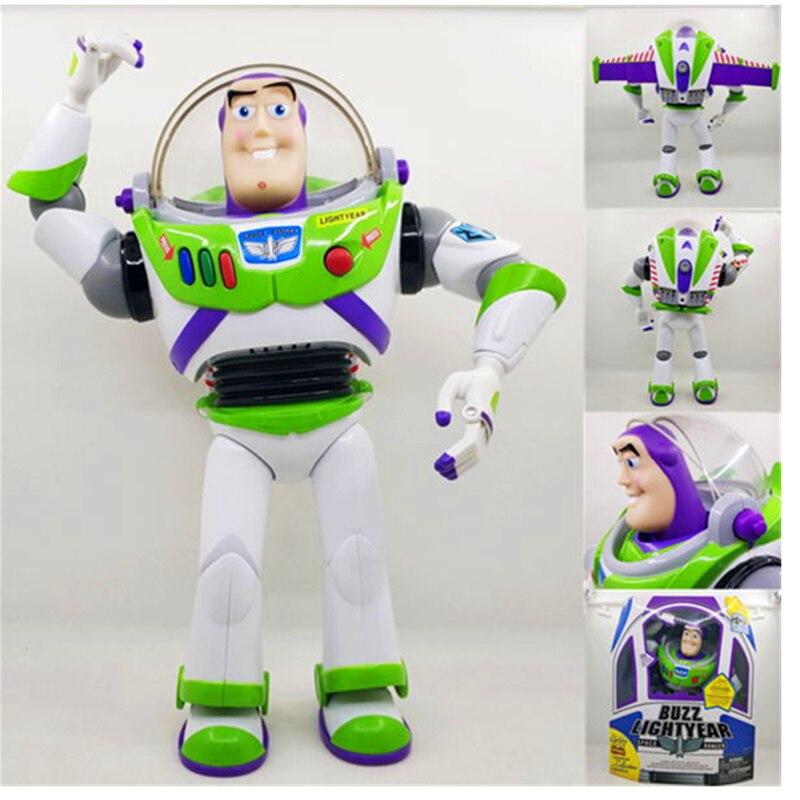 27 CM jouet histoire Buzz Lightyear avec lumière et son mobile Figurine articulée poupées jouets PVC Action Figure Collection jouet H760