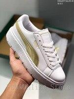 0778032bf1a 2018 Original PUMA Platform Women s Trace Leather   Suede Blocks Sneakers Size  EUR35.5-