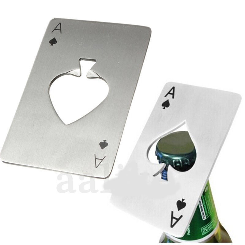 Smart Poker Card Spade Bar Tool Soda Beer Bottle Cap Opener use fro kitchen or Bar Tools for Barware