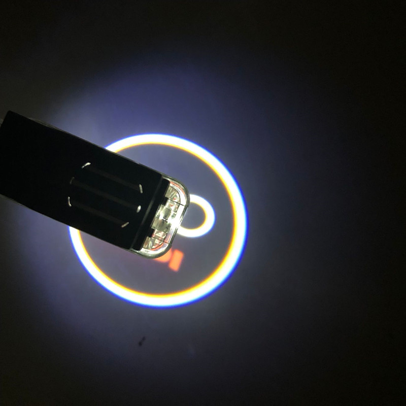 2x Logo Door Light for Audi A6 C6 A3 Q3 A4 B6 RS S4 S5 S6 S7 TT R8 LED Courtesy Ghost Shadow Light Laser Projector Welcome Lamp