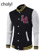 2017 CHOLYL baseball jacket menHigh Quality Mens Casual Classic Simple Design student Jackets unisex Man Varsity Jacket