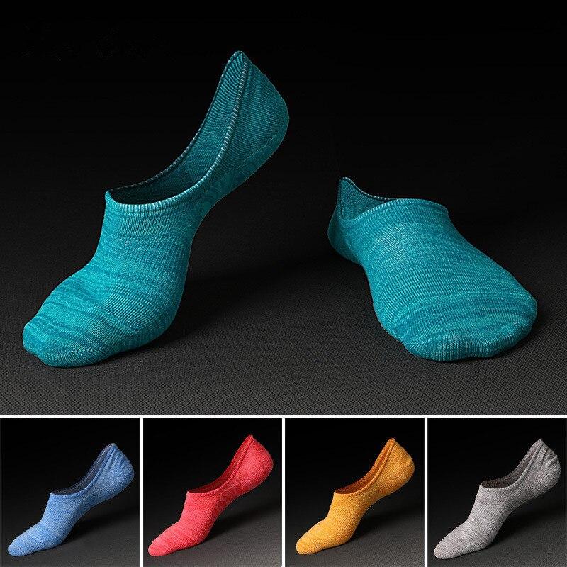Носки летние силиконовые Нескользящие невидимые носки Горячая Хлопок Calcetines сжатия sokken Meias Homens травы Chaussettes calzin